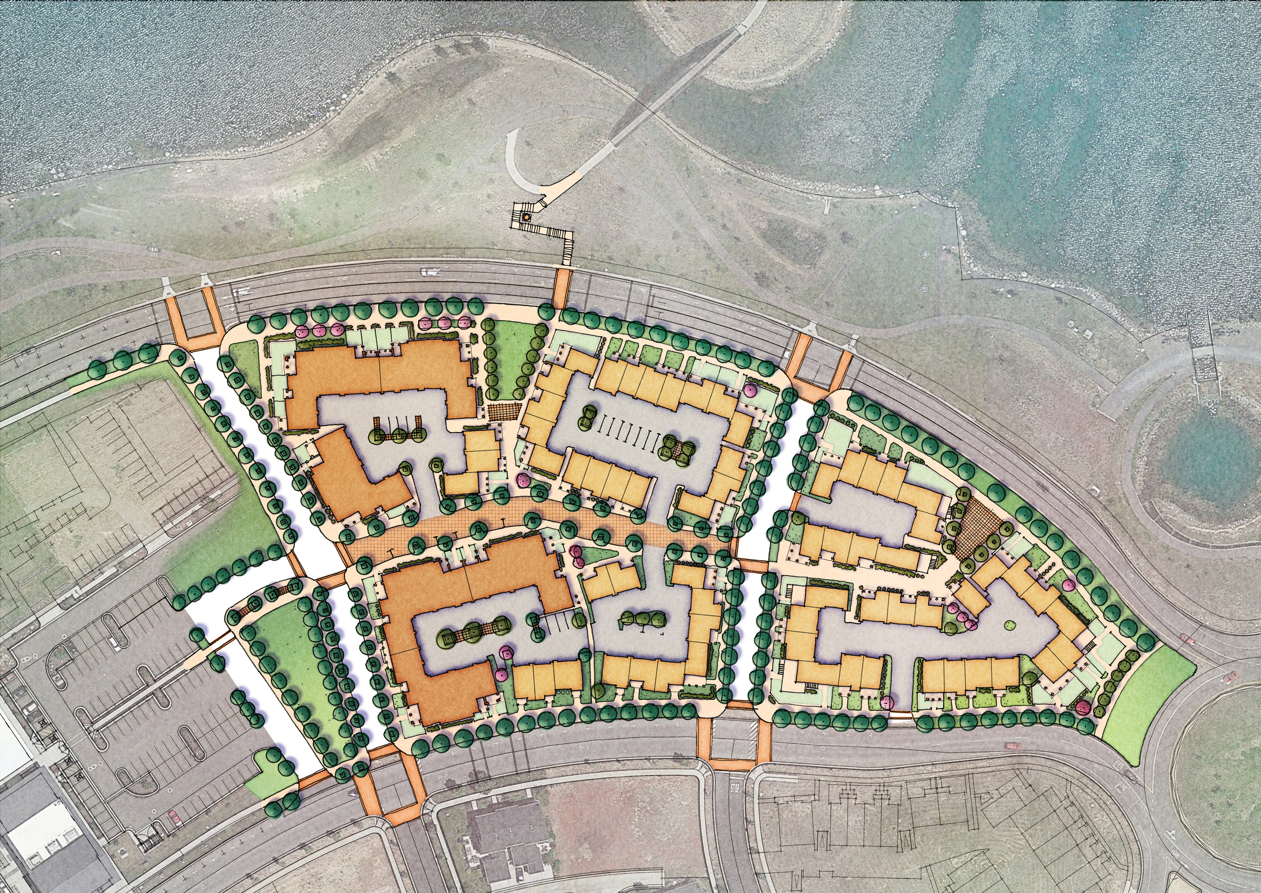 East Couplet Revised Master Plan– with Sego Homes (Under Construction)