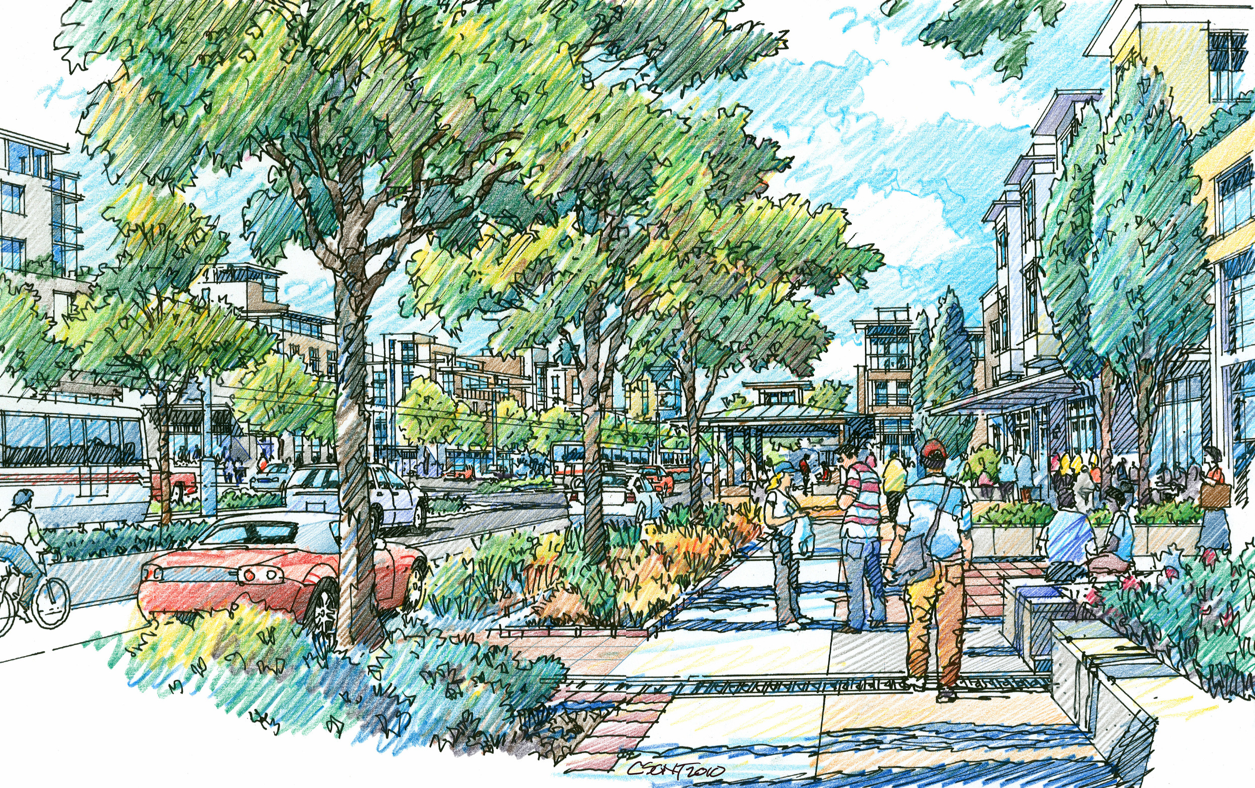 Daybreak Town Center and TRAX Station Concept Design–withKennecott Land Co (Project)