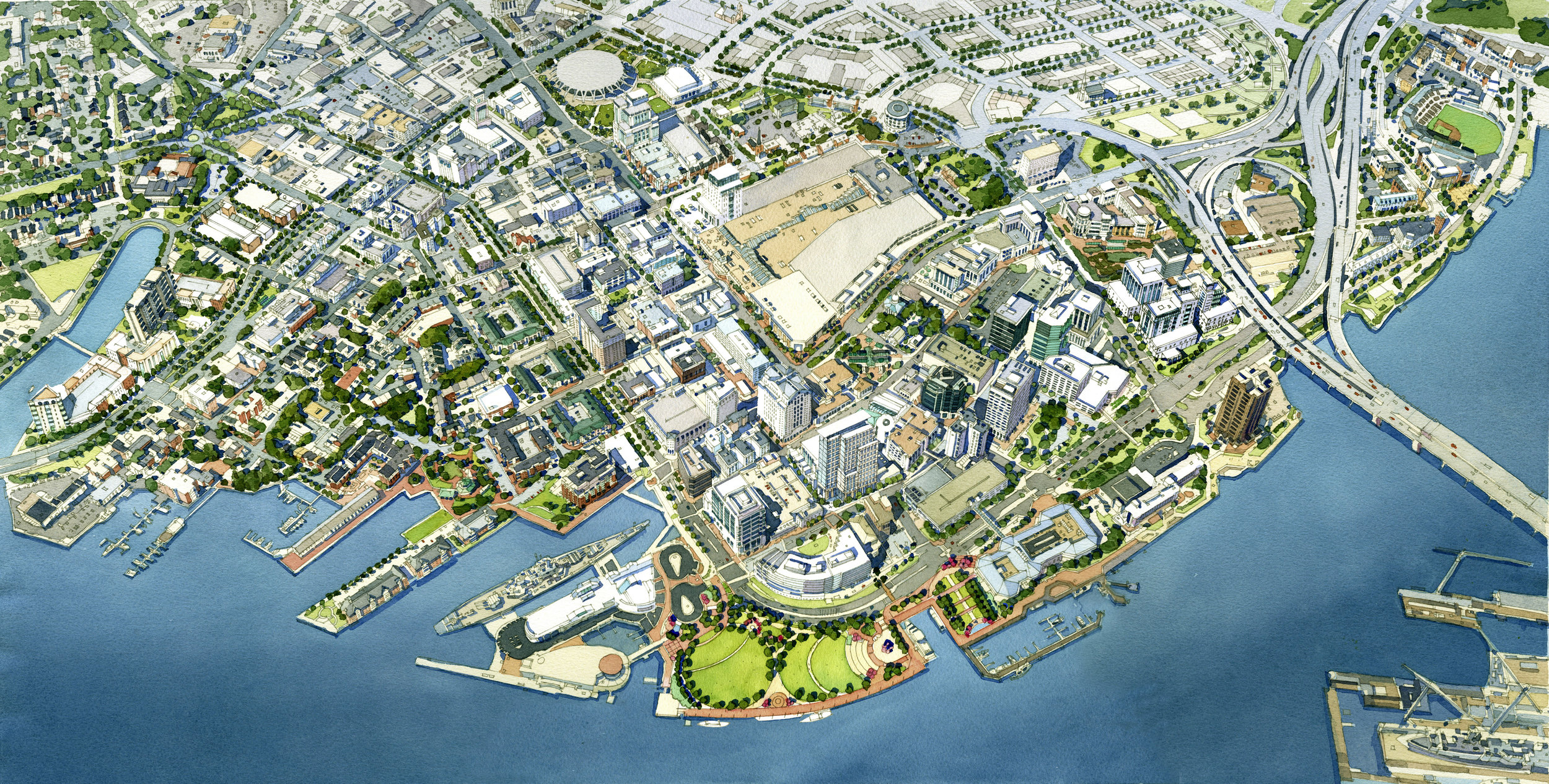 Downtown norfolk revitalization - norfolk, virginia