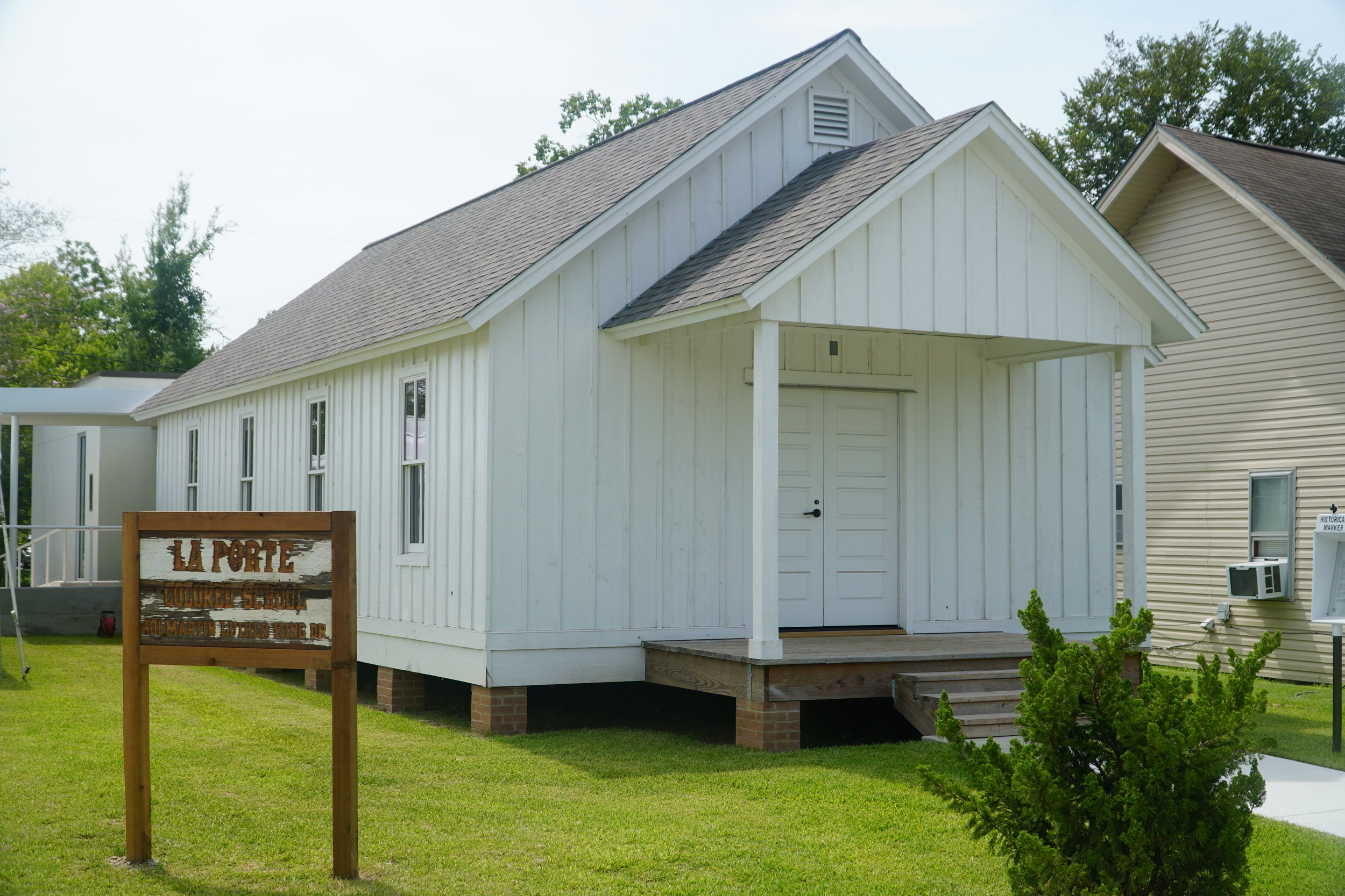 For many years after it ceased to be used for daily education, the historic one-room school house was still a centerpiece in the community. The small building hosted school performances, and acted as the meeting place for all north-side community celebrations. Overtime, the structure fell into disrepair suffering the crippling effects of time and neglect. Through the combined efforts of the La Porte Community Civic Club and the City of La Porte, the building has been completely rebuilt and once again took center stage in the community as it was dedicated on Saturday, July 21, 2018 as a museum and historical site. The building, which is located at 401 North 5th St (Dr. Martin Luther King Jr. Dr.) La Porte, TX 77571, is open Saturdays and Sundays from 11a-4p and admission is free.