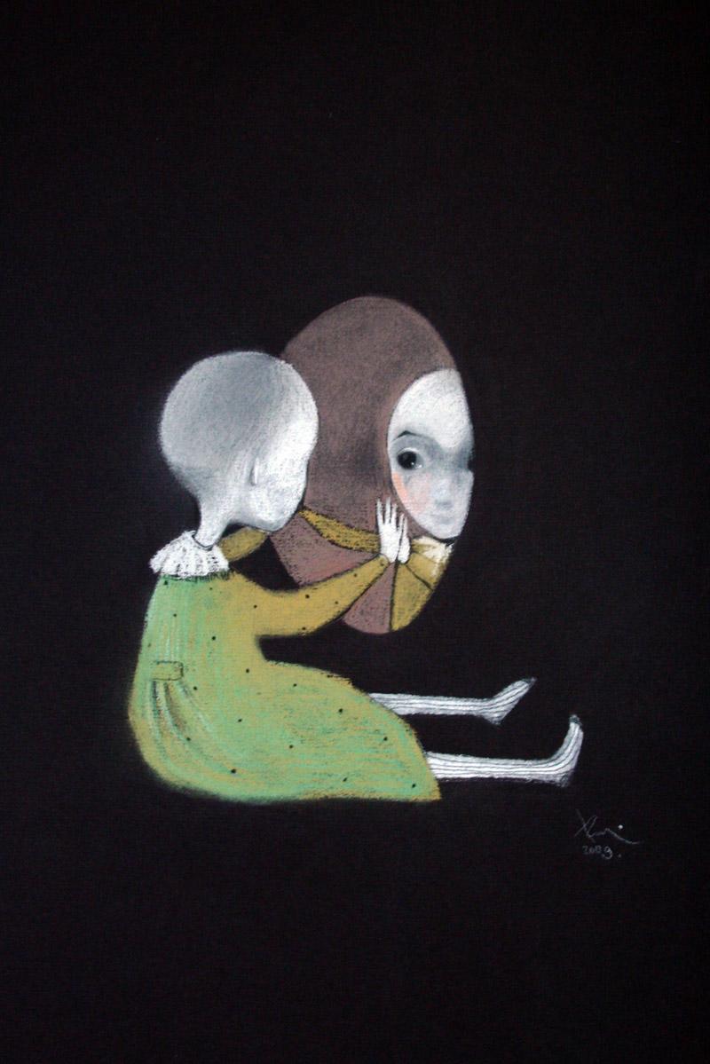 Alice   42 x 29 pastel on the paper . 2009