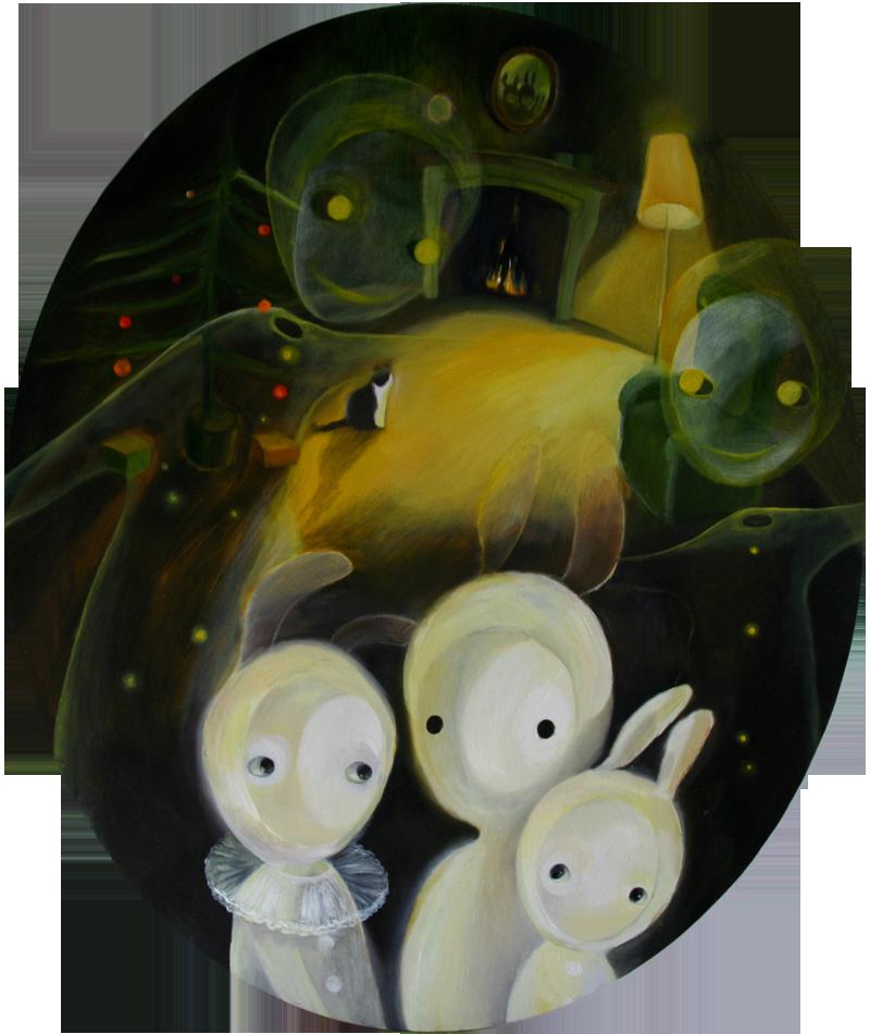 Christmas spirits   50 x 60 oil on canvas . 2010 – 2011