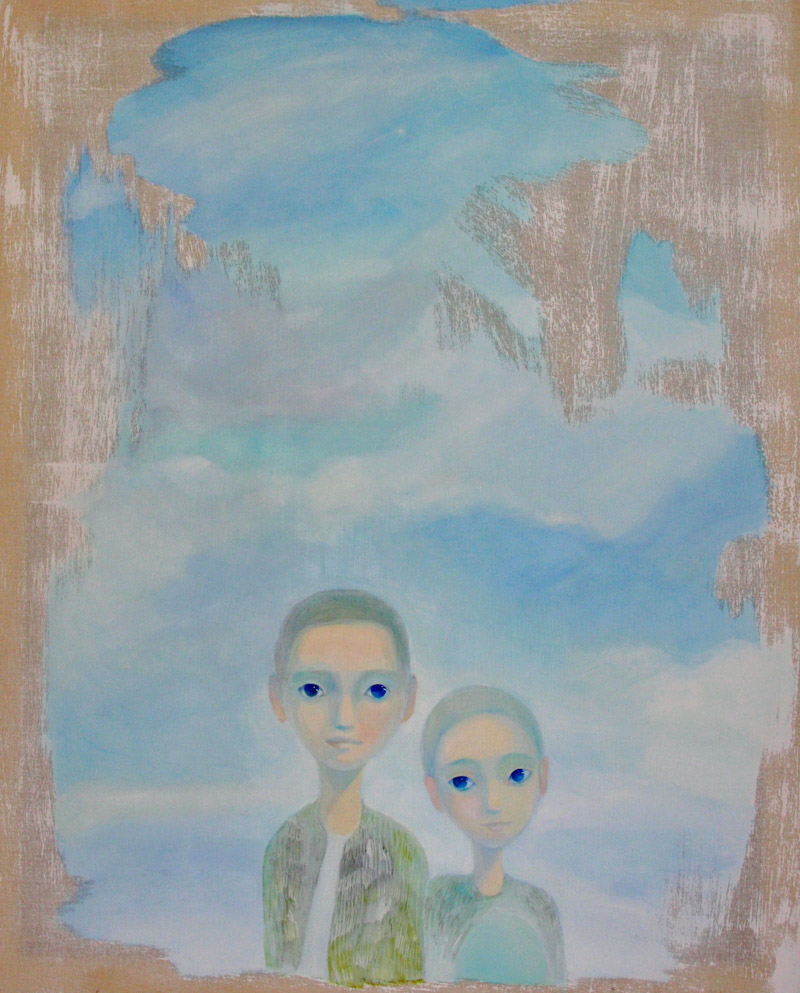 Instant photo fireworks   80 x 100   oil on canvas . 2012
