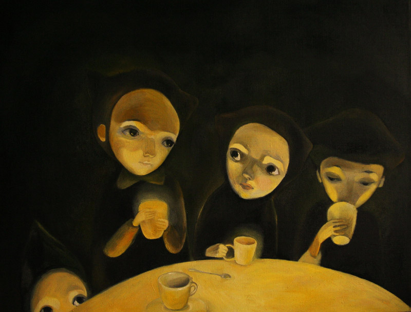 Mystery   50 x 64 oil on canvas . 2010