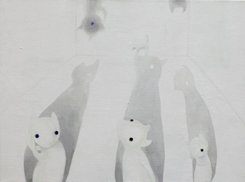 Peekaboo 1   60 x 80 oil on canvas . 2011