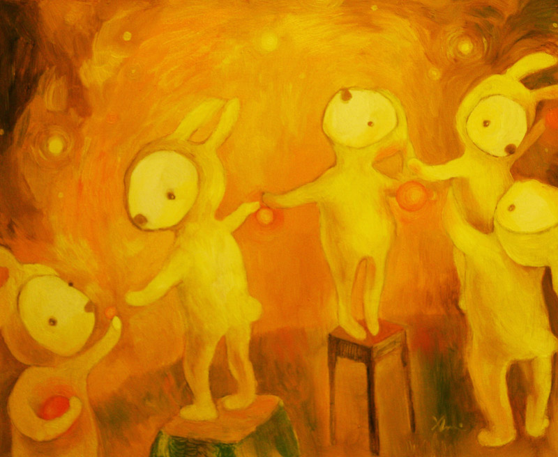Orange Christmas   50 x 60 oil on canvas . 2008