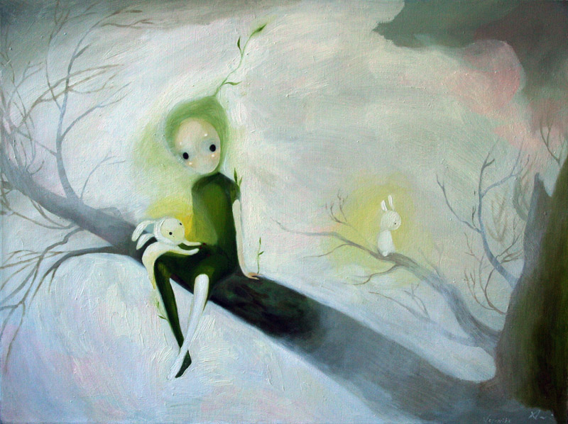 Spirit of The Tree   60 x 80  oil on canvas .  2010 – 2011