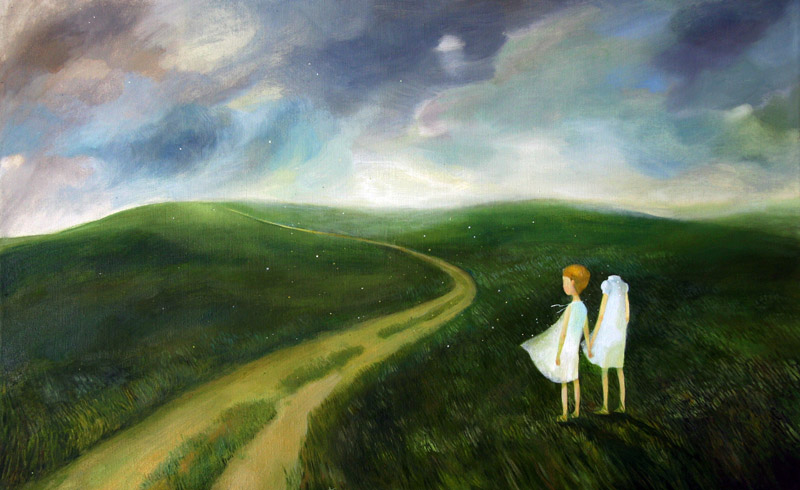 Way   50 x 80   oil on canvas .  2011