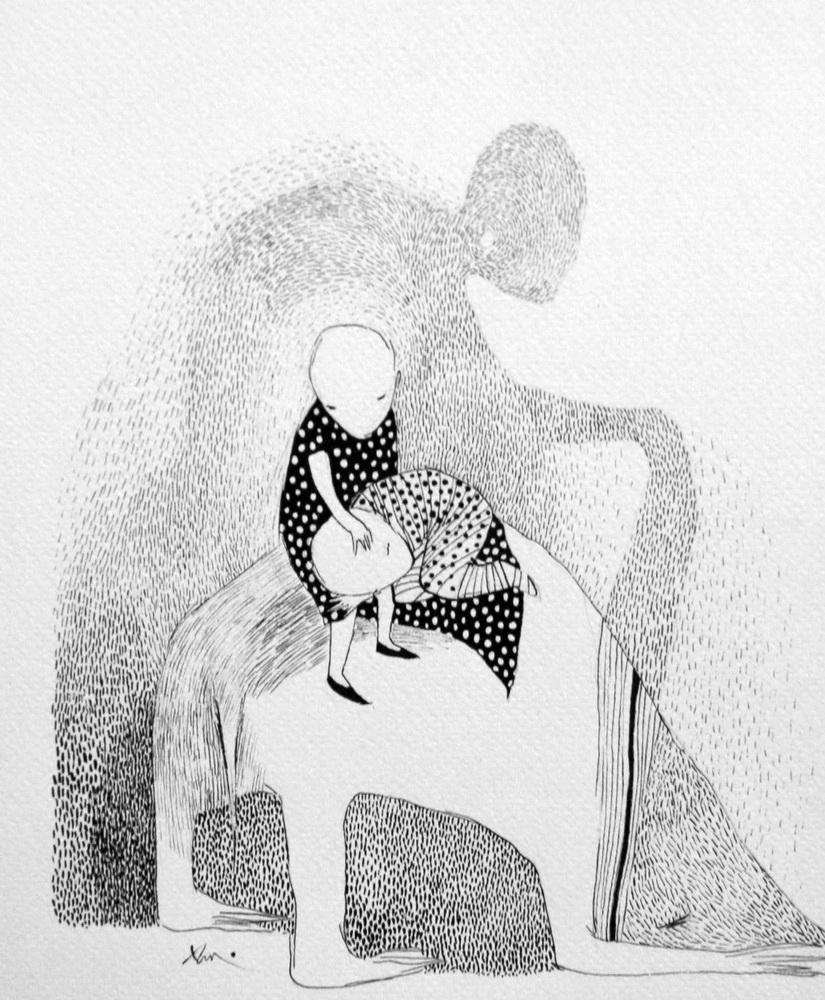 Sleep  Paper, ink  2005