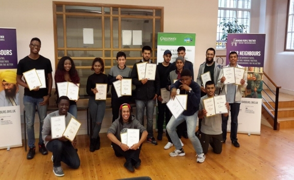 The next generation of Lutons community leaders completing the Catalyst Youth Leadership Programme