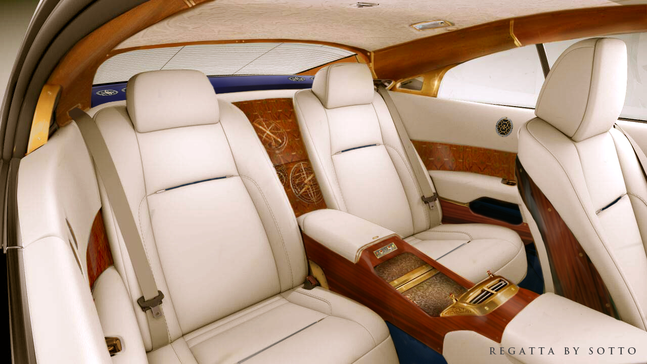 Marquetry surrounds the passengers as the rear seat experience rivals the front.