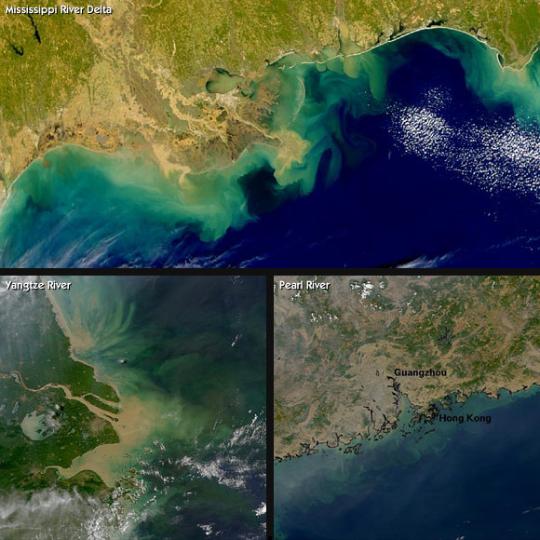 3 major dead zones via satelite