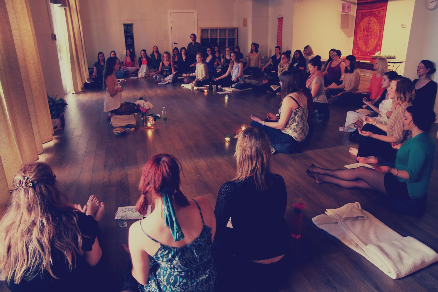 Guiding a workshop on How to Communicate With Your Spirit Guides + Angels in Calgary, AB.