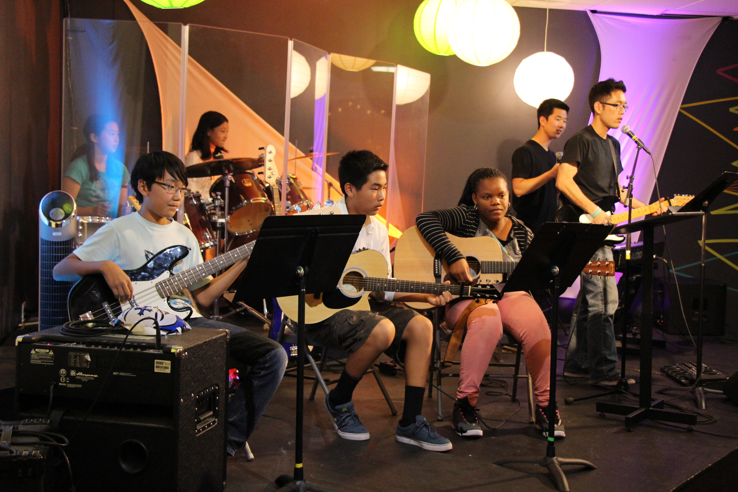 Afterwards, Hartie led our praise time while our very own Element students supplied the instrumentals!