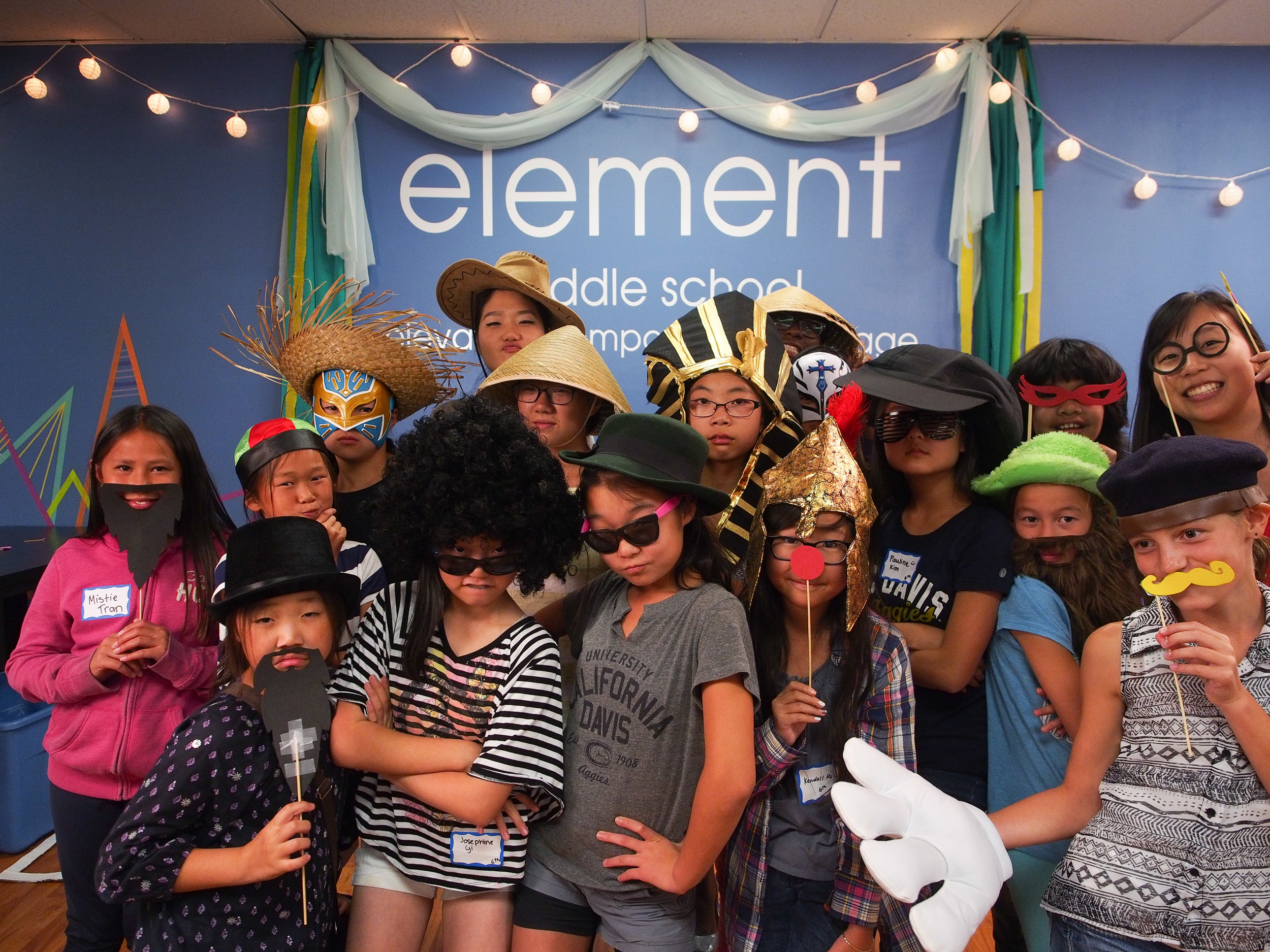 We kicked off the night with a pizza dinner and photobooth time by grade. Although we were initially going to hold a competition for the most creative, most epic, and most silliest picture, all sense of greater purpose clearly dissolved the moment people saw the props.