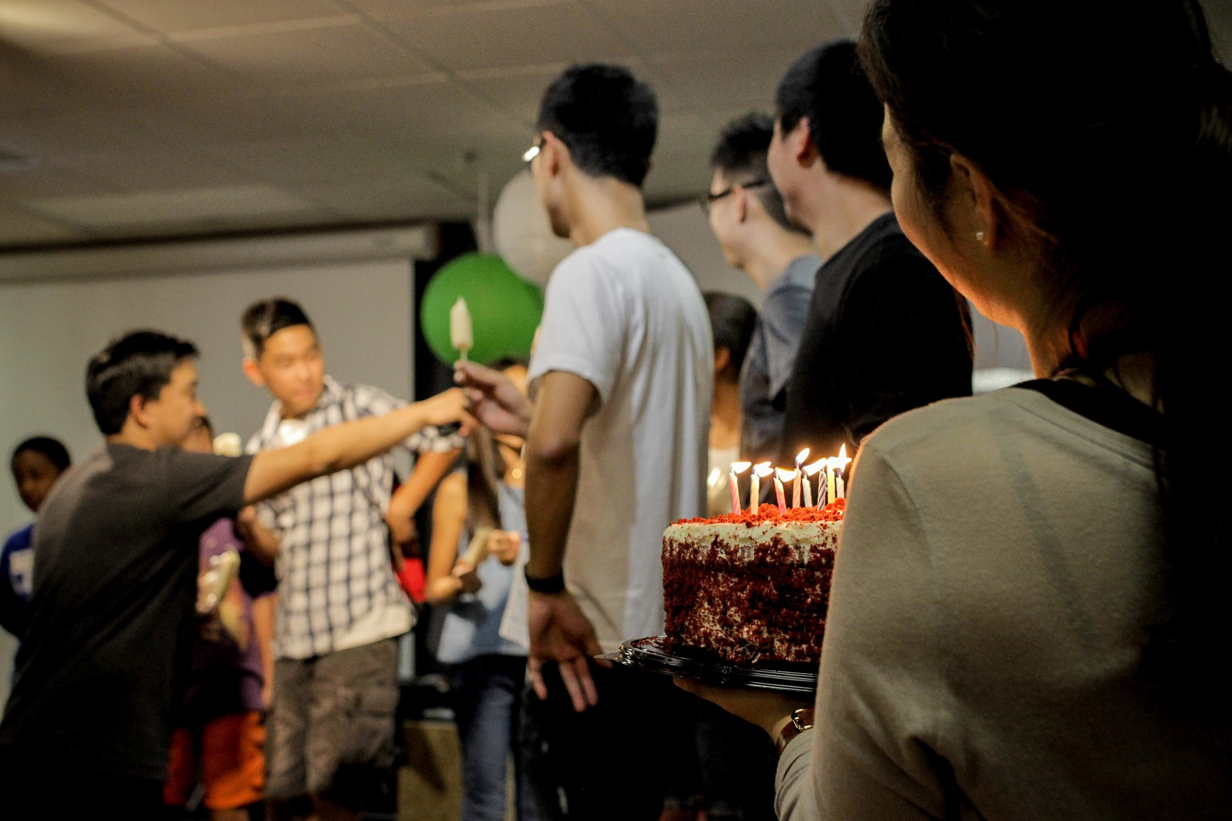 Afterwards, we gathered together to celebrate all of the September birthdays with singing and cake.