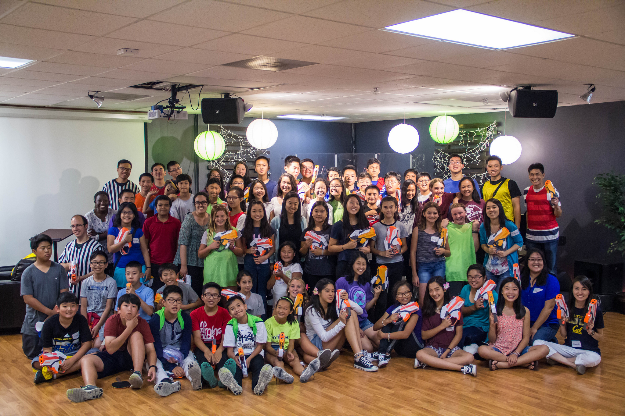 We ended the Large Group night together with a big group picture!