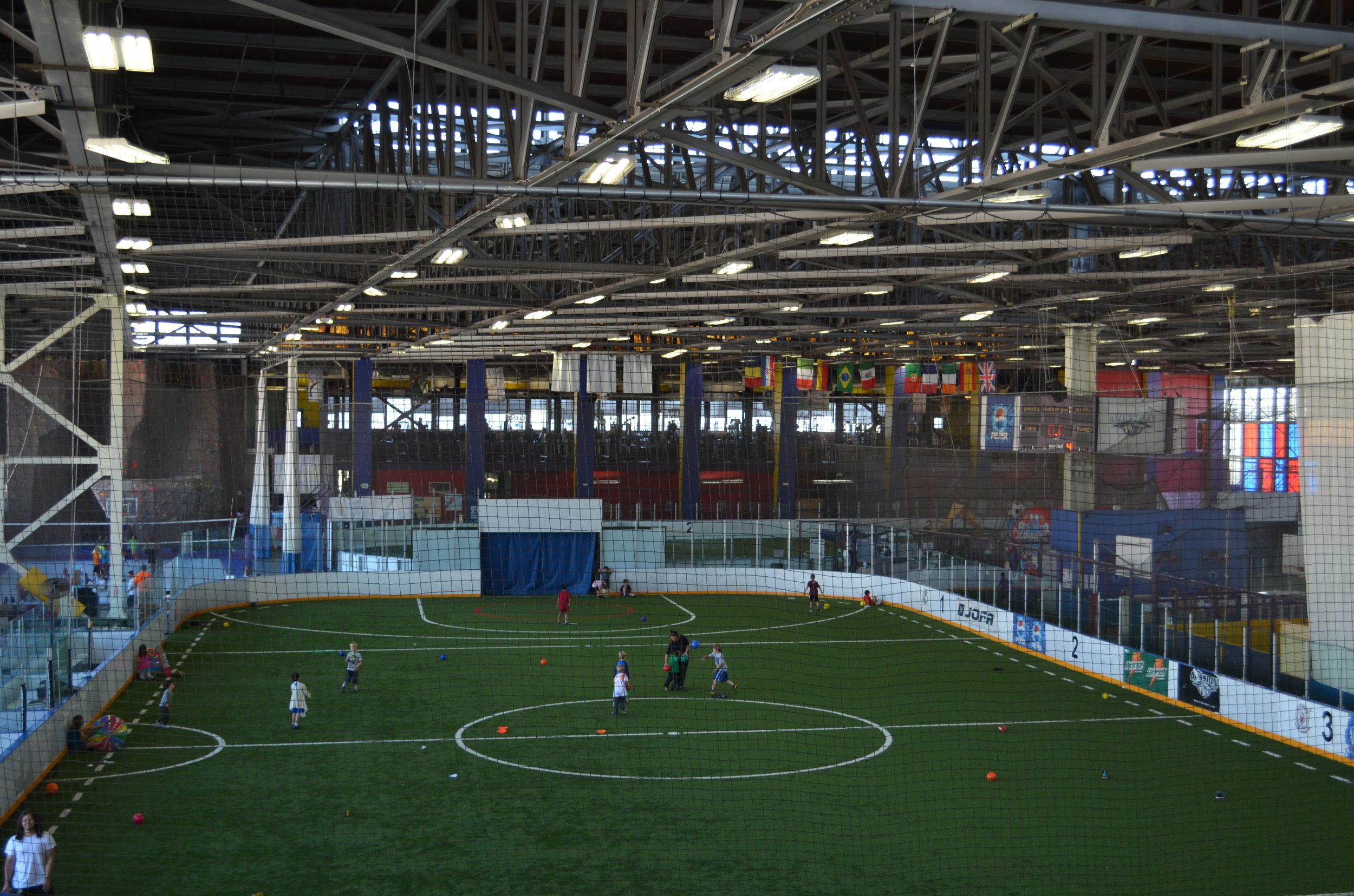 Soccer field at bladium