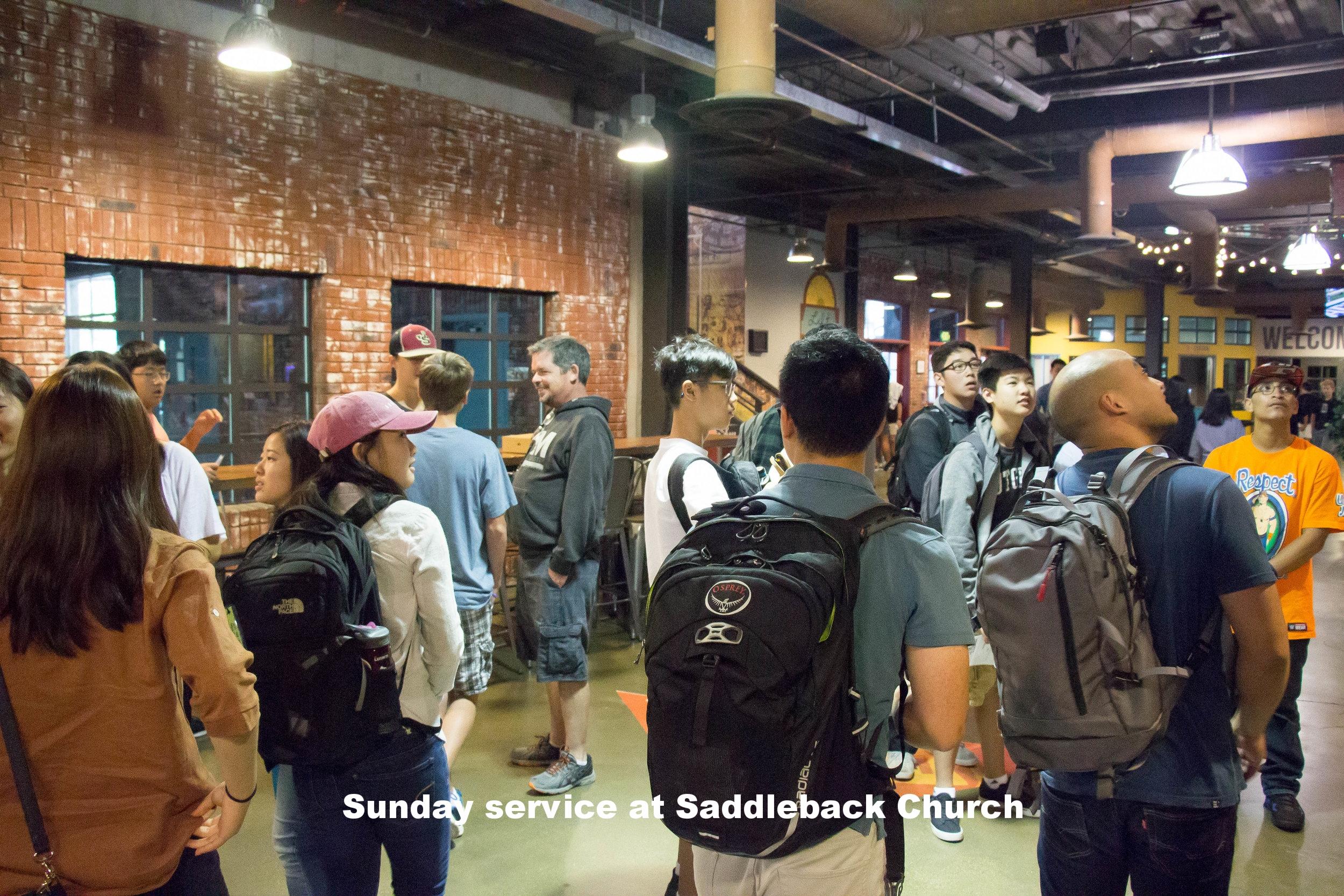 Sunday service at Saddleback
