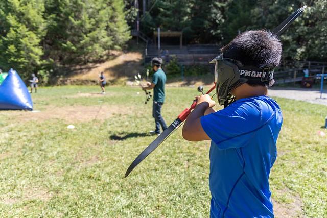 Archery Tag was fun, safe, and sweaty!