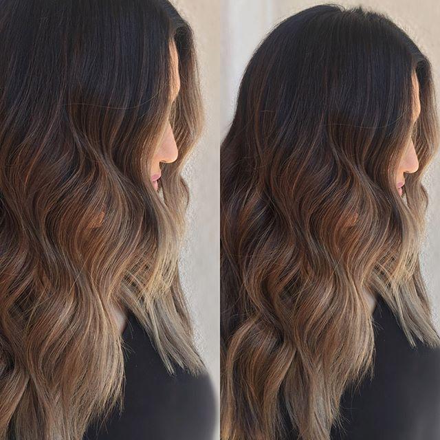 ~Dimensional Swirl Brunette~ cut, foliage and Kerasilk treatment to create this brunette look. #hairstylist #madisonsalon #ochairstylist #behindthechair #americansalon #modernsalon