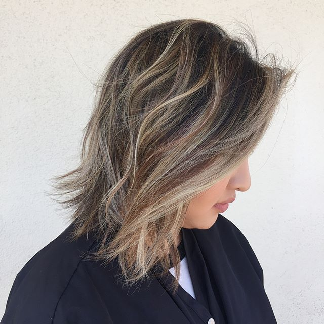 ~Dimensional Bronde~ Cut and color by yours truly. SWIPE for a look at this makeover. Took some patience and three visits to lift through both the natural and artificial copper in her hair color.