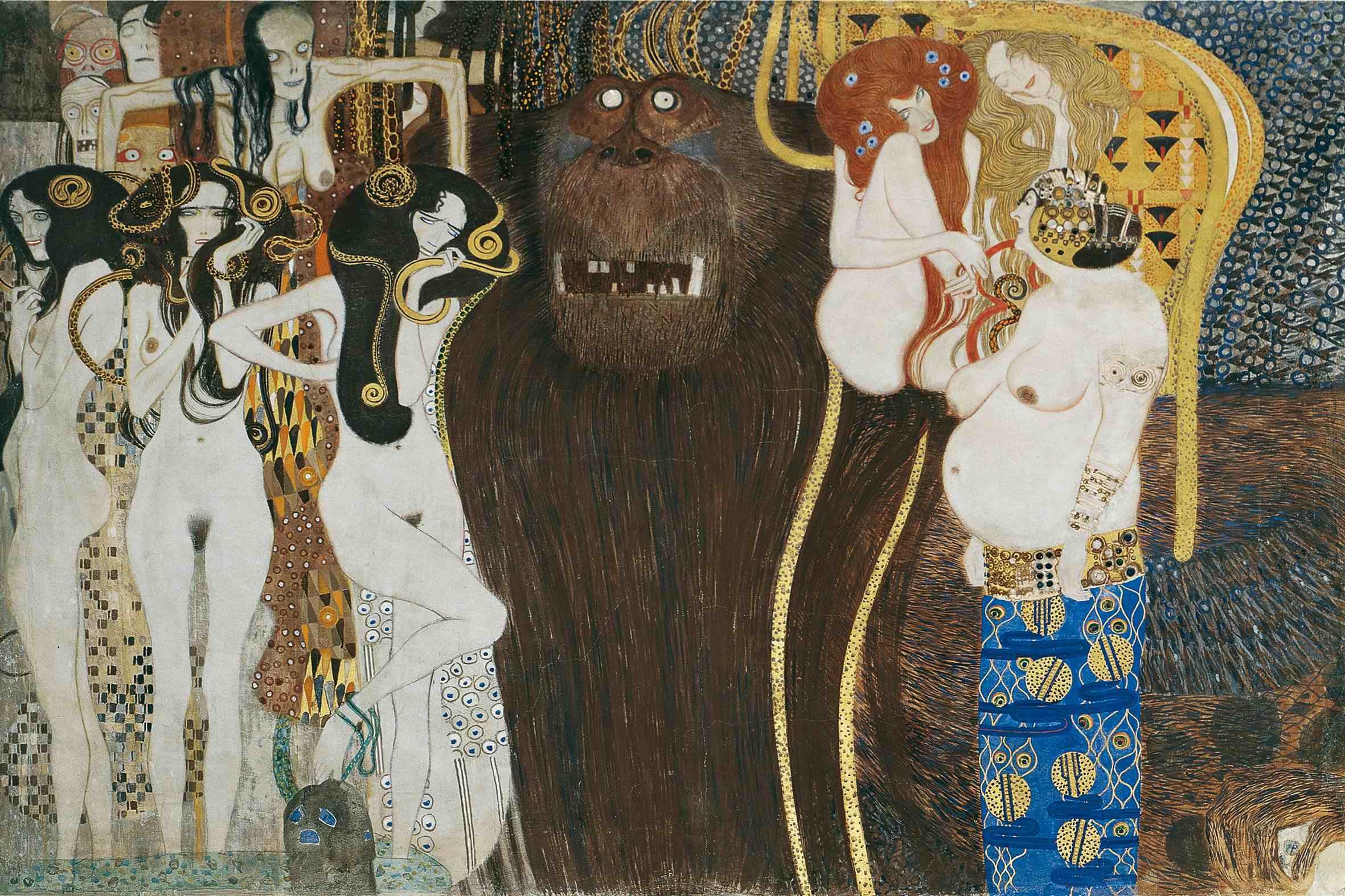 Panneau de la frise  Beethoven (1902)