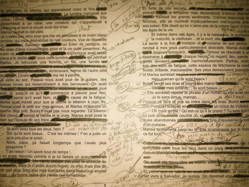 Le manuscrit.