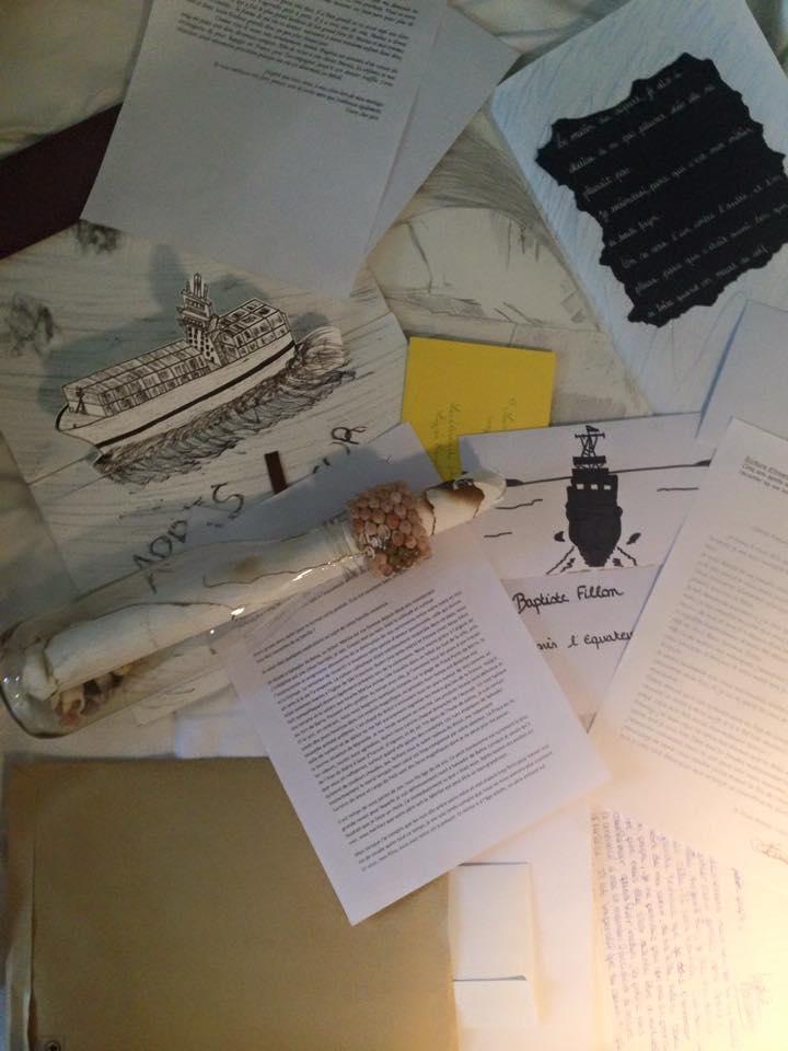 Cadeaux et travaux des lycéens lavallois autour du roman  Après l'équateur .