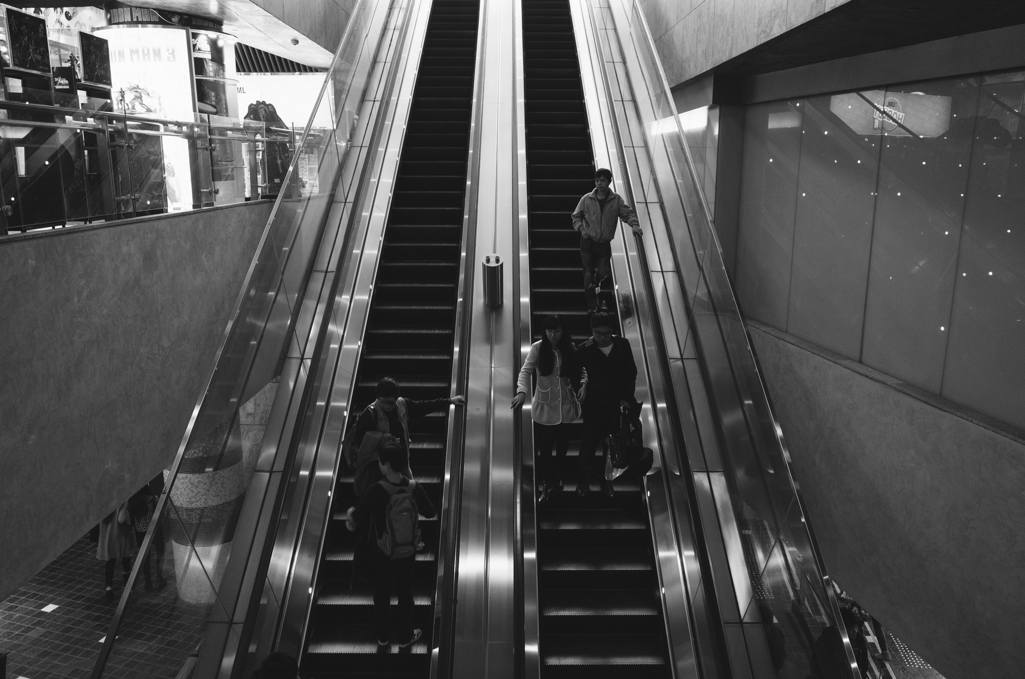 Another one of the many sets of escalators.