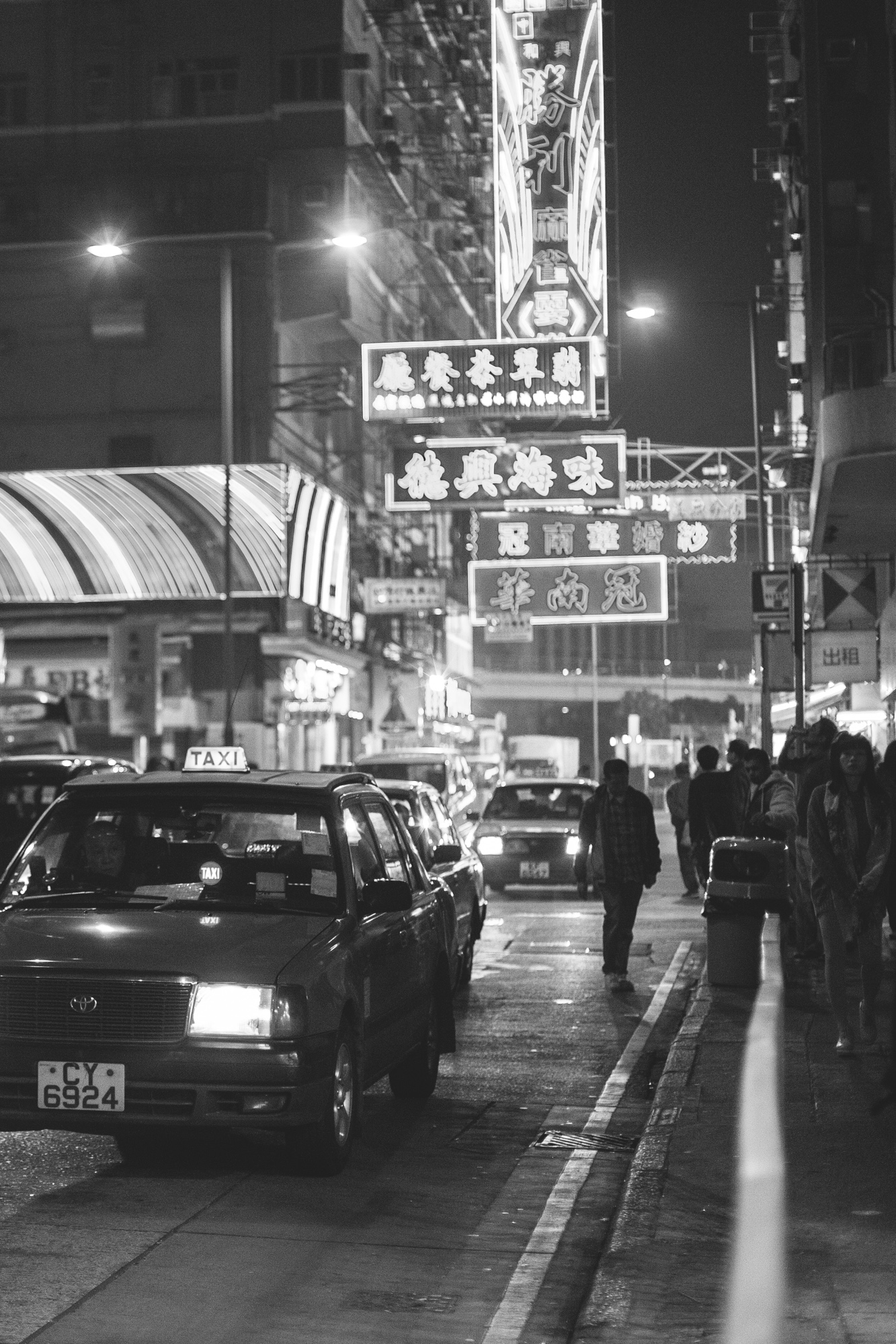 Hong Kong is littered with overhanging neon signs that seemingly defy gravity, and the Temple Street area is of no exception.