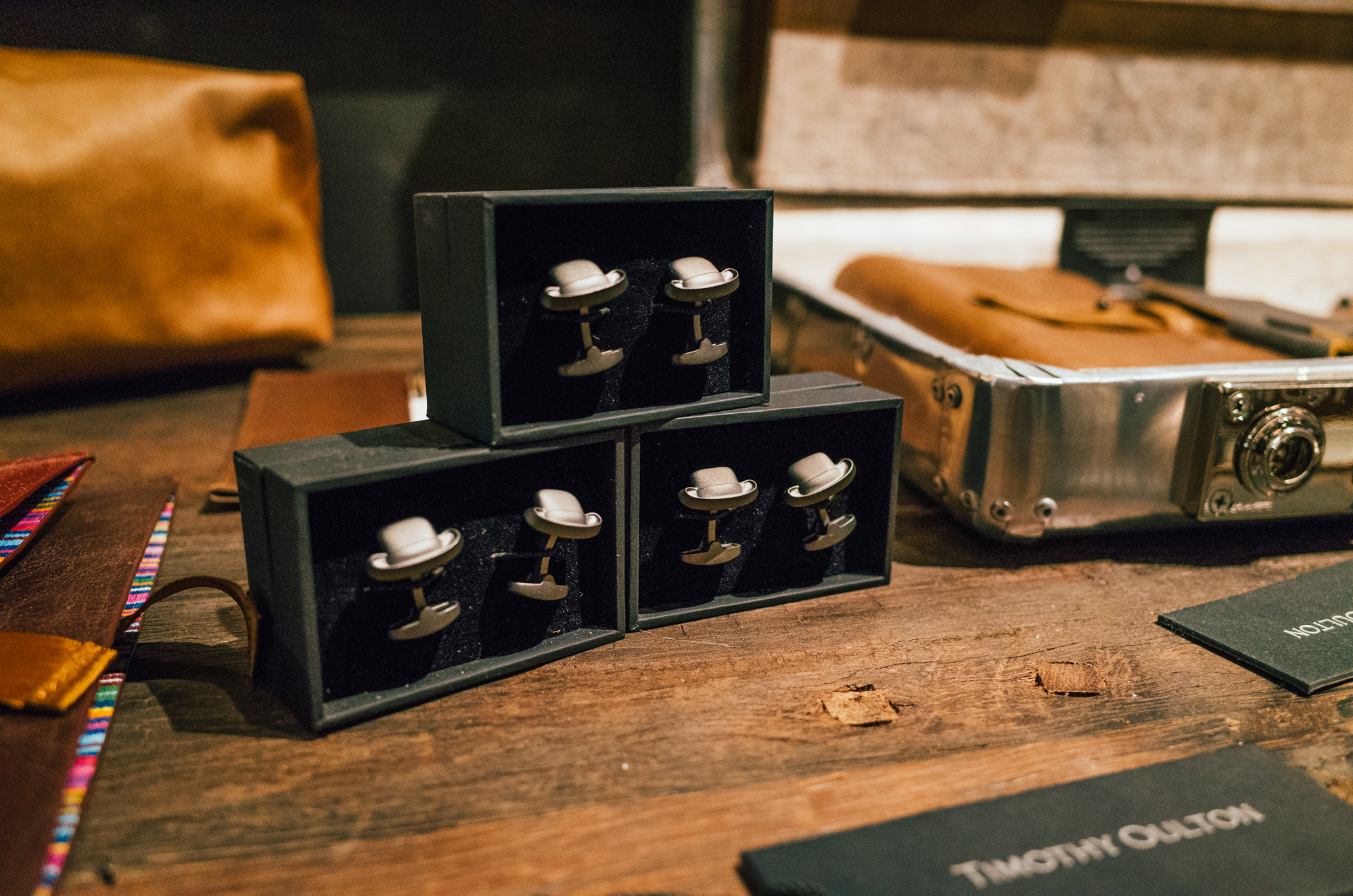 You can't get any more British than fancy hat cufflinks.