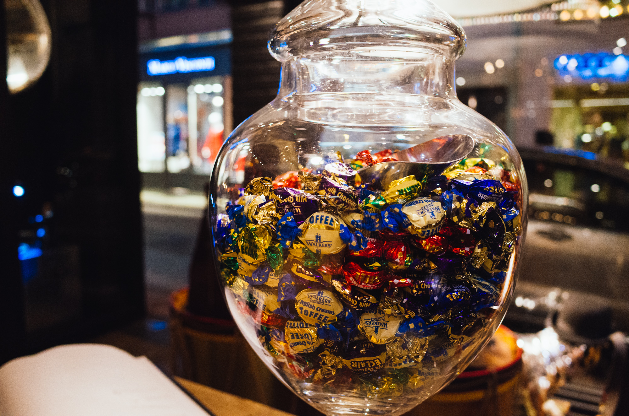 Our time admiring the goods of Timothy Oulton were concluded by a lovely stash of sweets, which the employees were more than happy to give us.