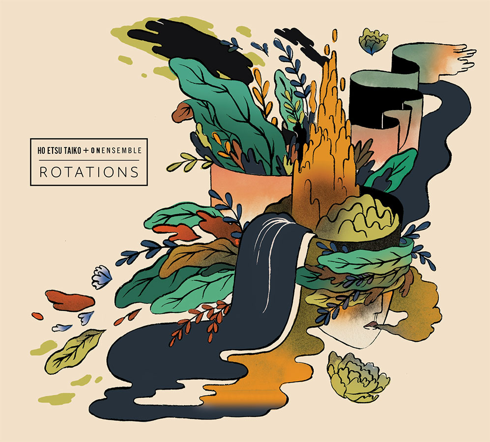 """Artwork and design for  Ho Etsu Taiko,  """"Rotations"""" live concert album, 2017."""