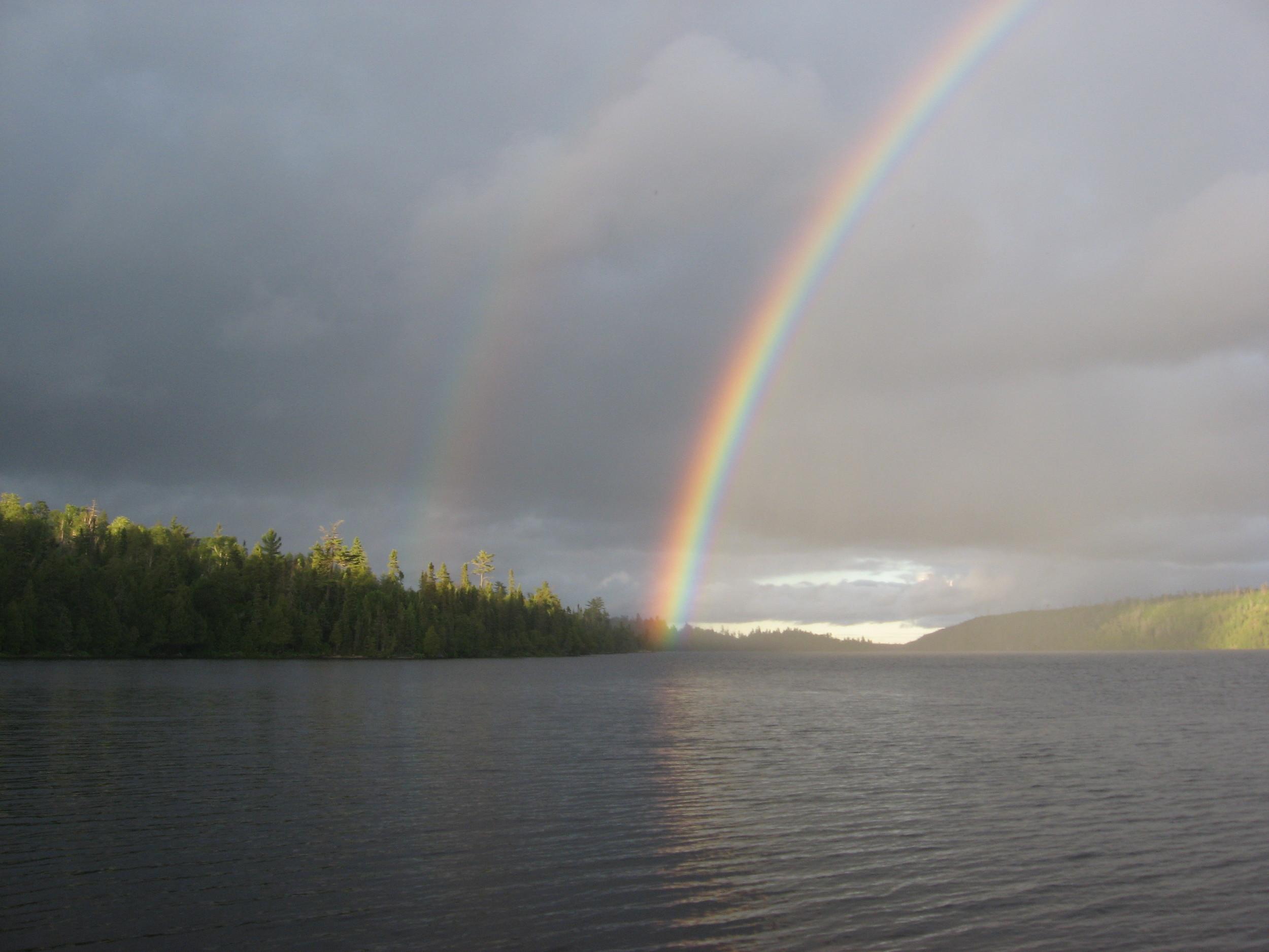 double rainbow; BWCA