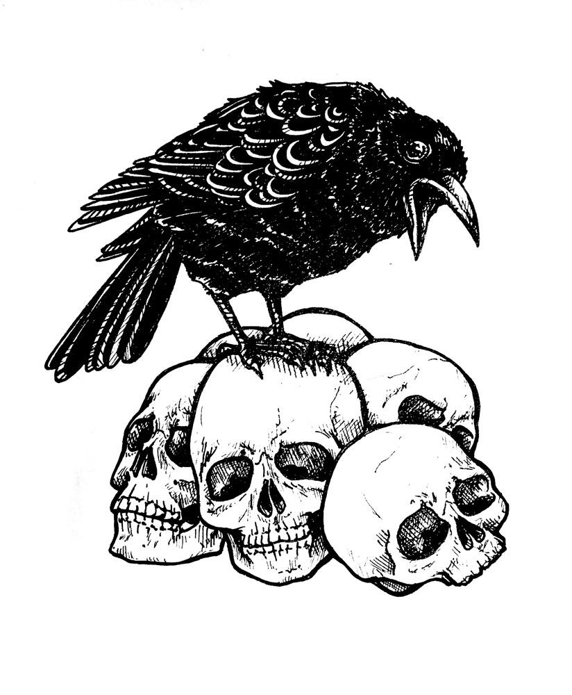 Crow Lineart 1