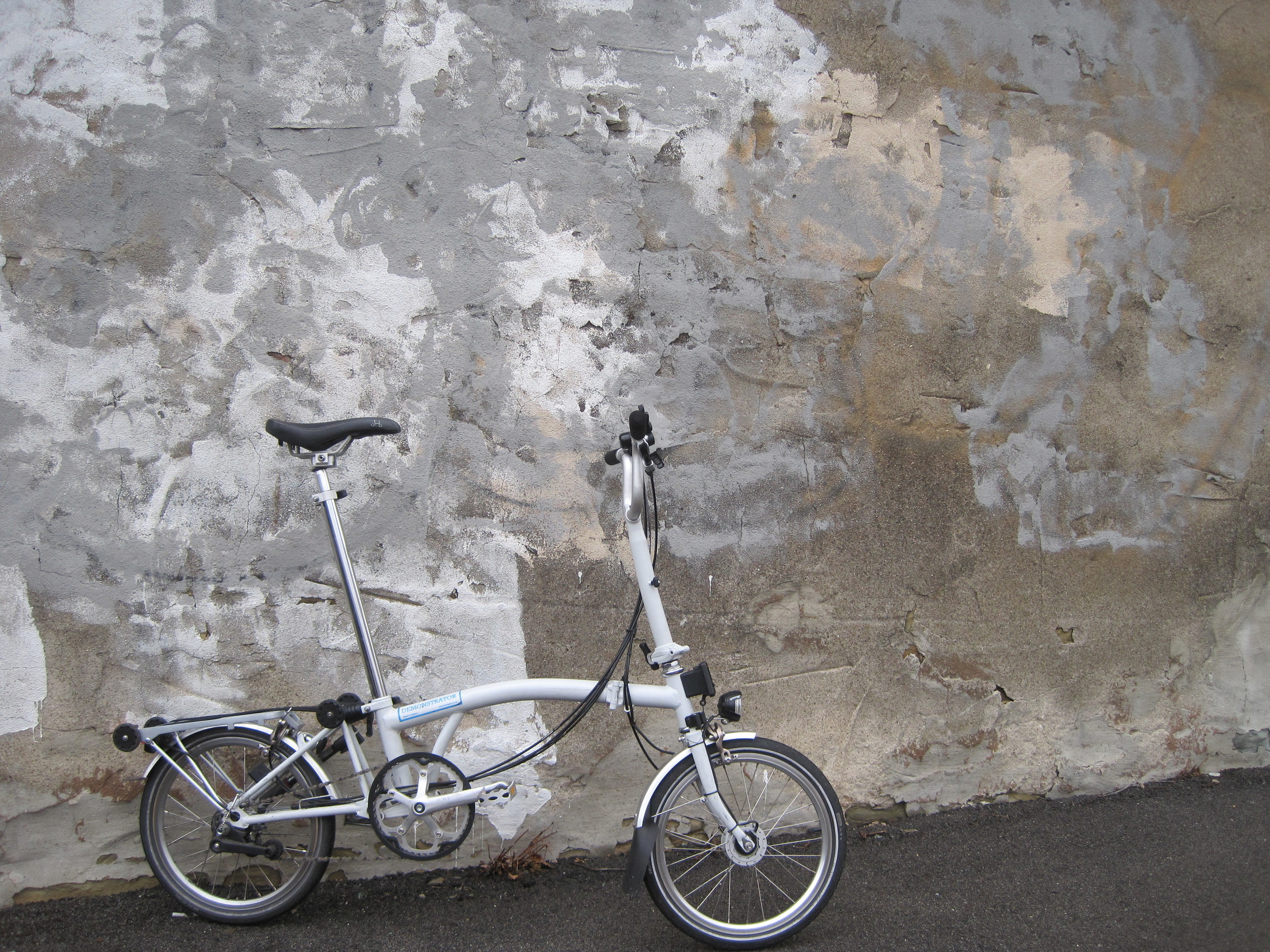 Here is a picture of our demo brompton in it's natural environment. An urban area.
