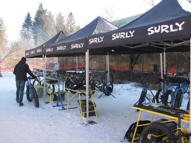 Surly had a bunch of demo bikes for use around QBP headquarters. Fat bikes Galore!