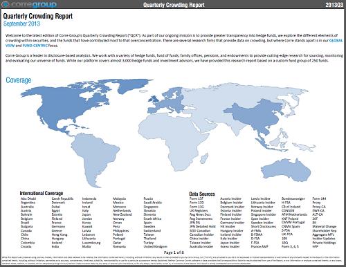 Quarterly Crowding Report - 2013 Q3