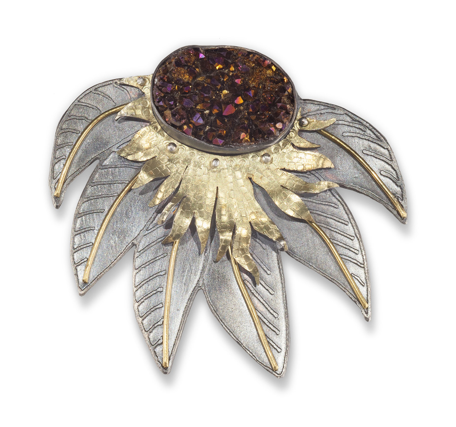 Drooping flower pin/pendant