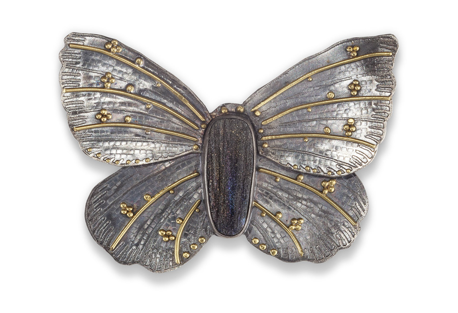 Large butterfly pin/pendant