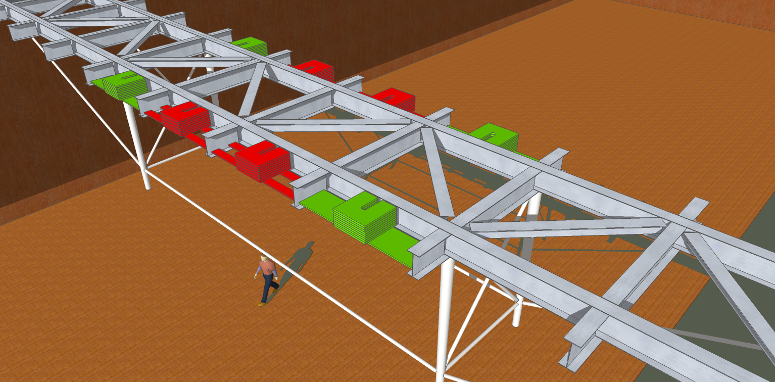 The initial design is based on structural dynamics analyses.