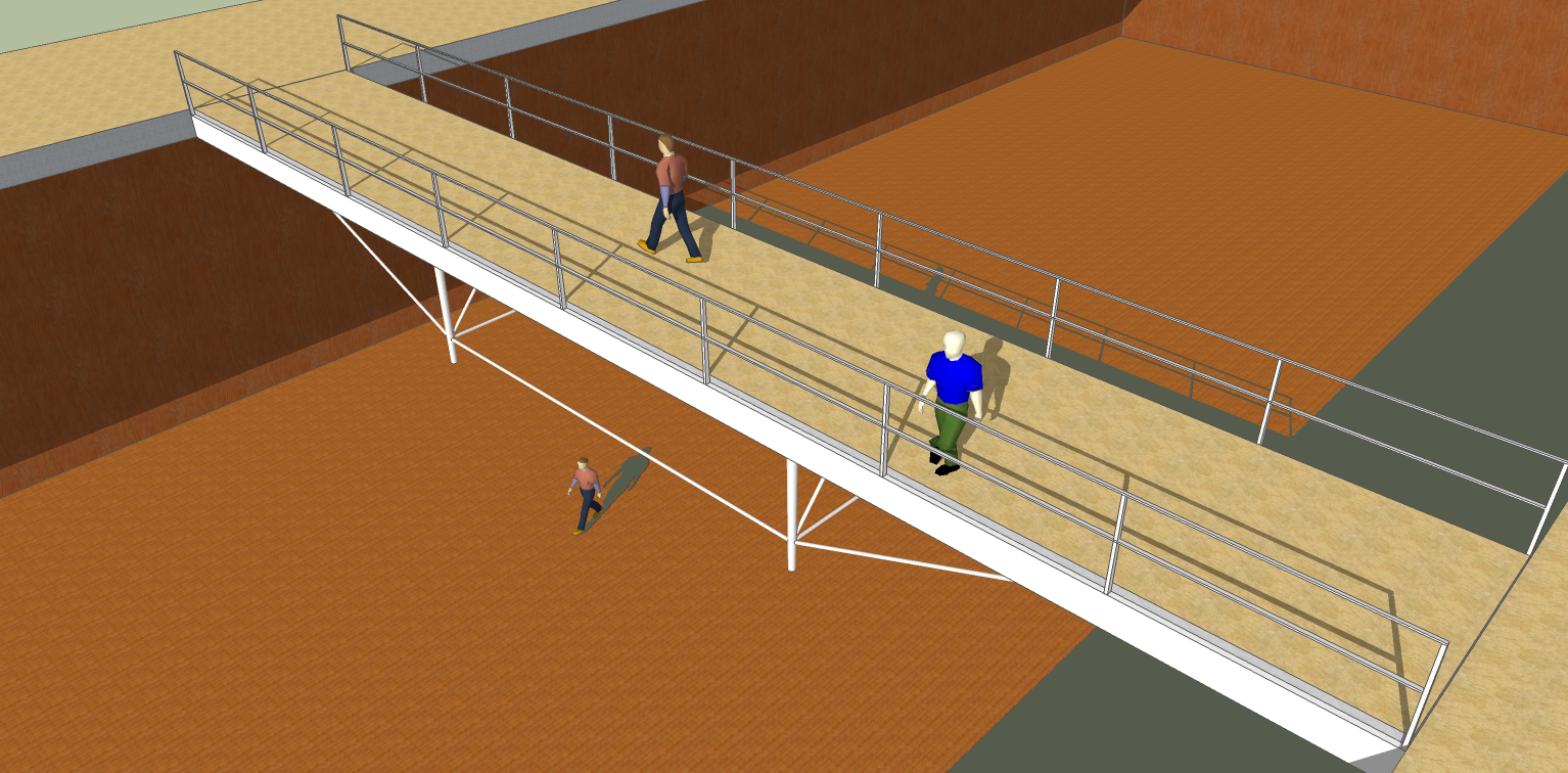 but the walkway feels much more stiff.
