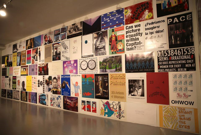 (En)Gendered (In)Equity: The Gallery Tally Poster Project Organized by Micol Hebron  Opening Reception March 9, 2016 Exhibition Dates March 10 – April 17, 2016  LACE presents a retrospective of all Gallery Tally posters created to date – including over 400 original, artist-designed posters that visualize gender ratios in the contemporary art world. Since 2013, Gallery Tally has collected and visualized data pertaining to the radical underrepresentation of women in all facets of the art world and beyond.