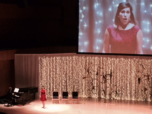 Performing as a soloist at the Holland Center with Opera Omaha