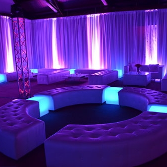 Colored Uplighting - Perfect for creating a classy atmosphere in any venue. Available in a wide range of colors