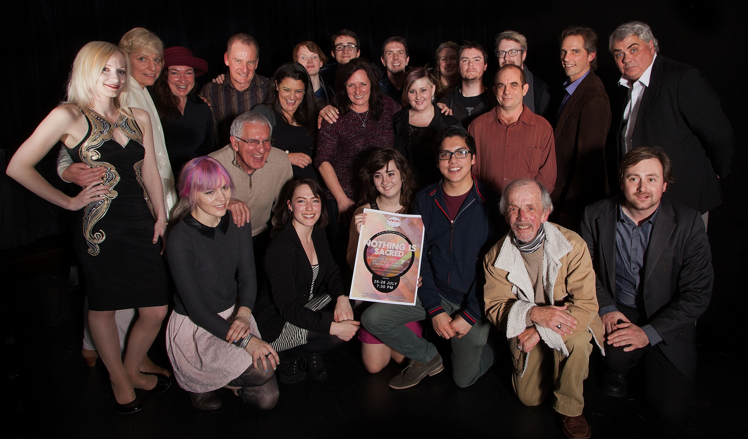 Writers, directors and actors involved in Nothing Is Sacred (Smith's Alternative, 25-28 July).jpg