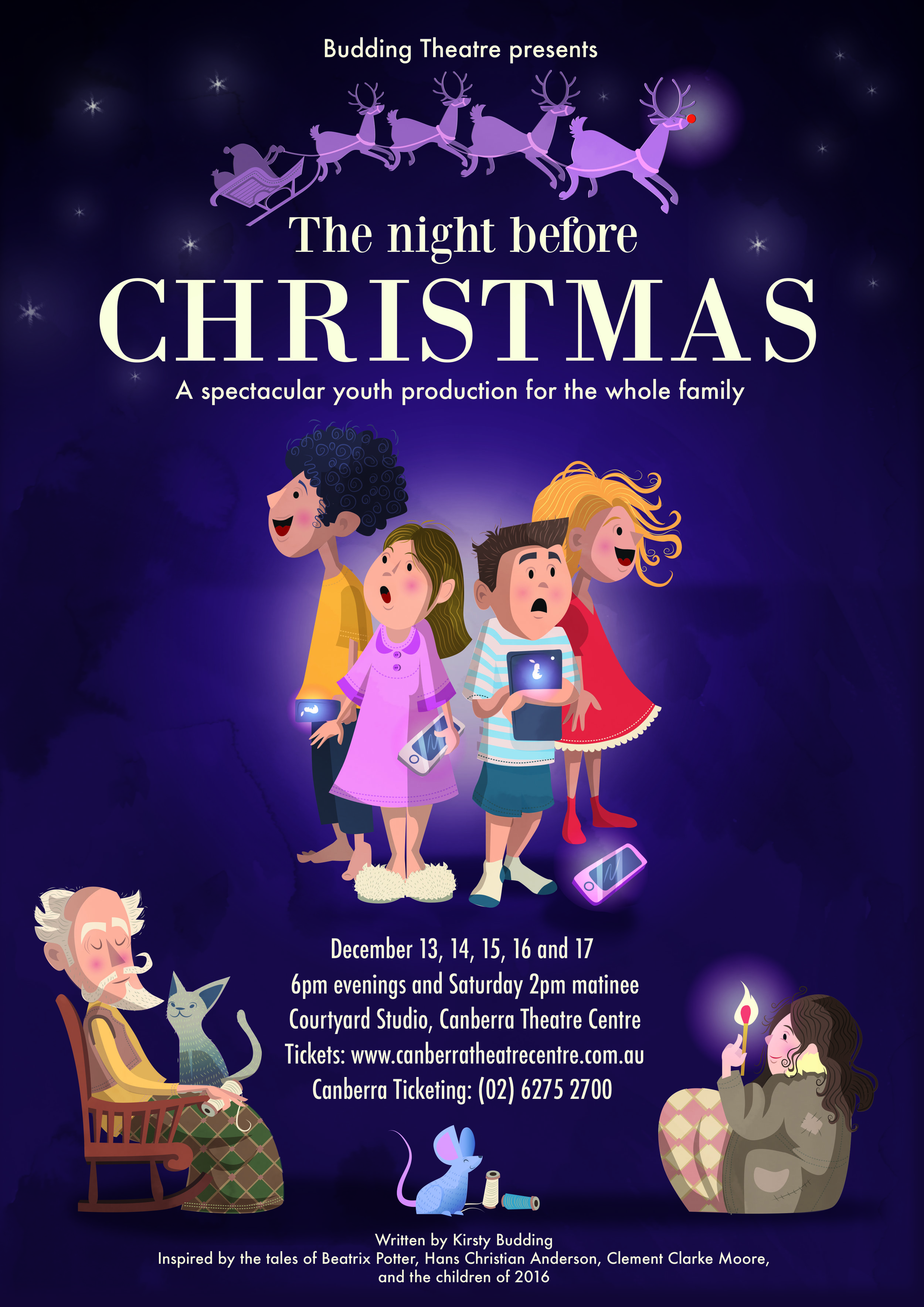 The Night Before Christmas Budding Theatre Kirsty Budding 2016 Canberra youth theatre