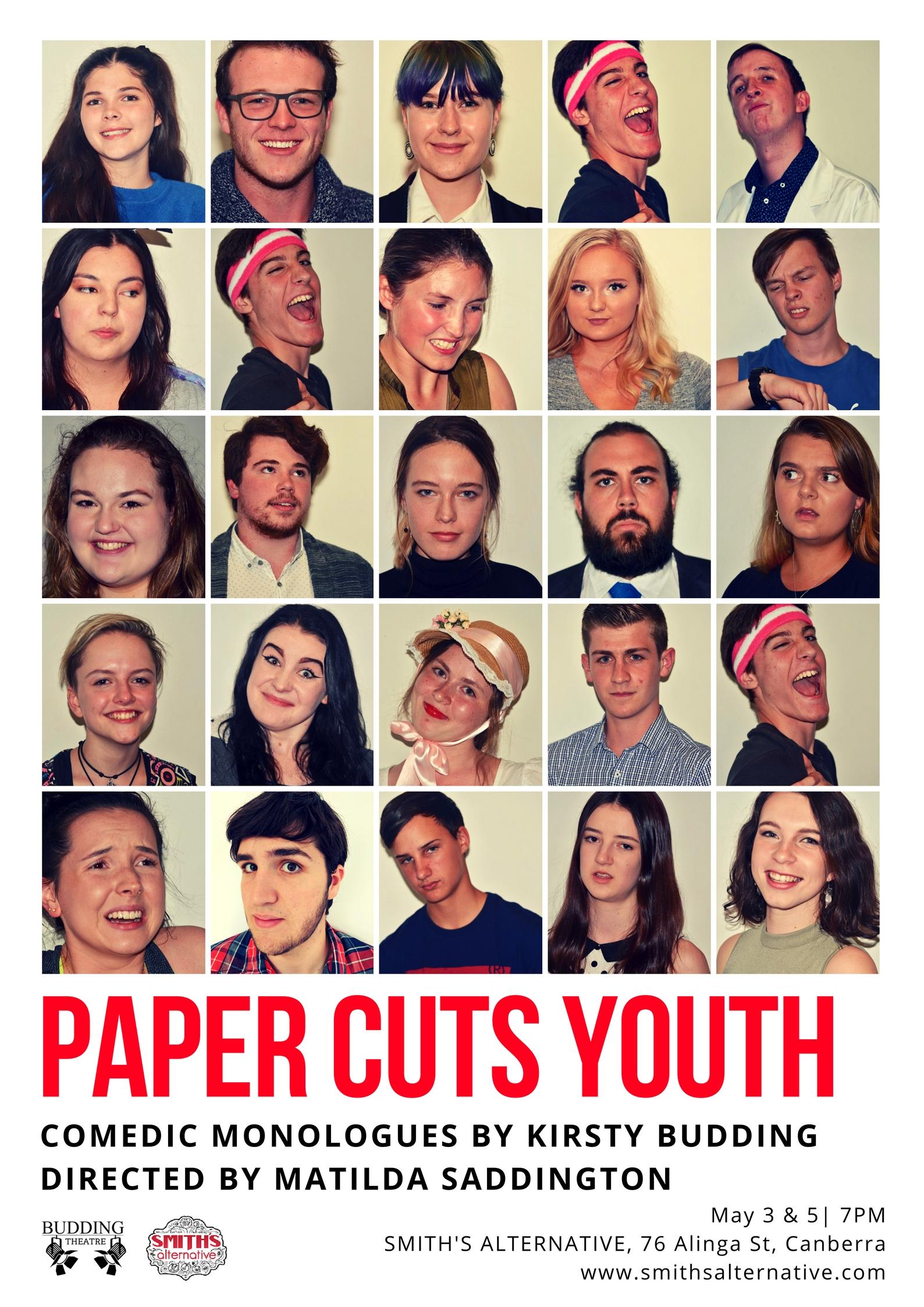 Paper Cuts Youth Kirsty Budding Matilda Saddington