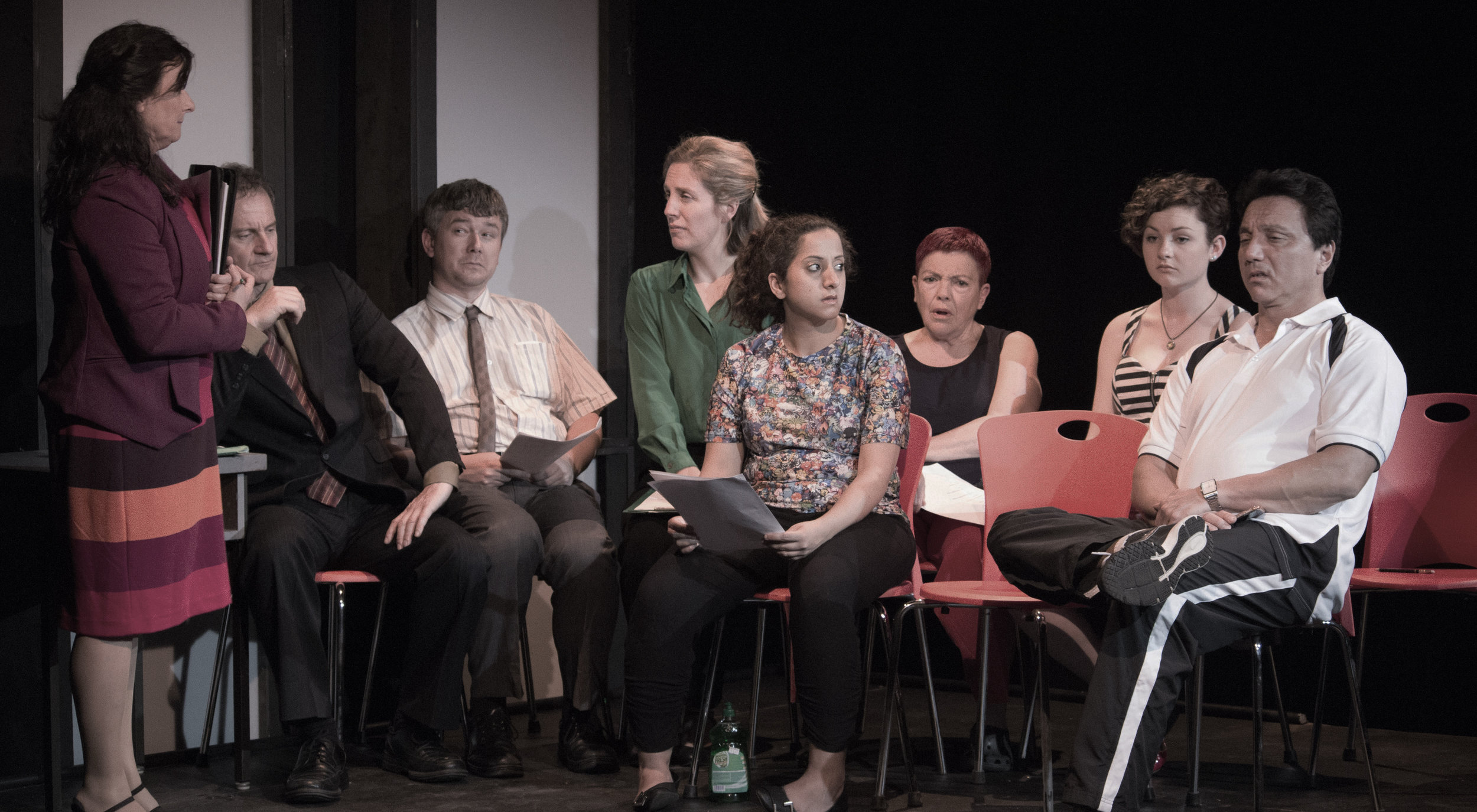 The original cast of The Art of Teaching Nothing dir. Cate Clelland for Free-Rain Theatre Company
